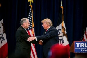 grassley trump handhake